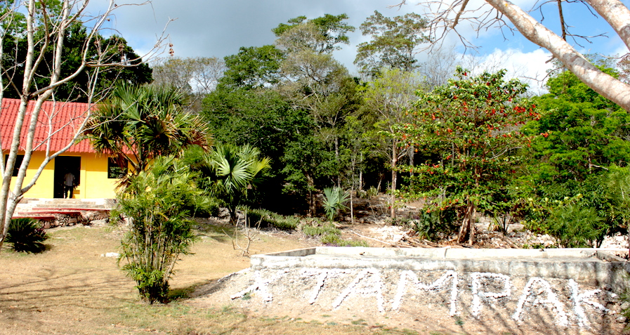 Entrada a la zona arqueológica
