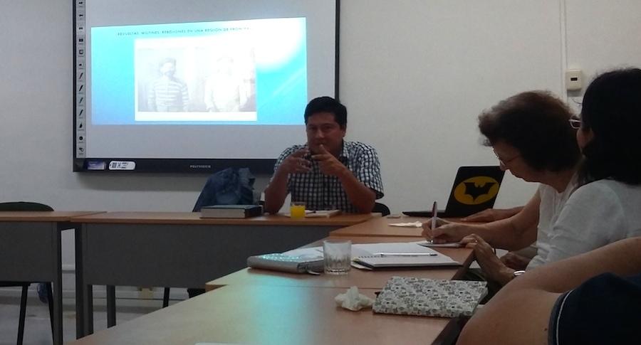 Gilberto Avilez, doctor en Historia de Yucatán, este viernes en el Ciesas Peninsular, Mérida