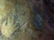 Cenote de Homún exhibe una mano impresa antigua