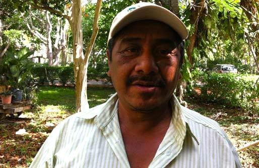 Bernardino Canul Xix, representantes de la organización Naal Xoy (de Xoy)