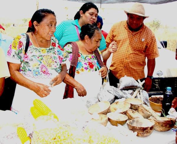 Mujeres mayas, presentes en la feria