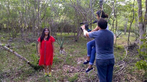 Una escena de la filmación de Yuum Ha'