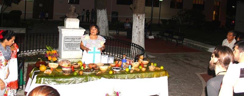 La ofrenda a las ánimas en Bellas Artes, Mérida