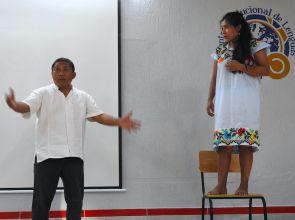 El grupo teatral Wáay reanuda sus presentaciones en lengua maya