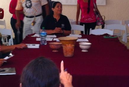 La doctora Blanca Paredes Gudiño, al empezar las actividades este sábado 12 en INAH Yucatán