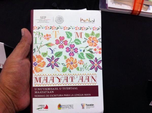 Portada del nuevo libro, hecho por mayahablantes de la Península