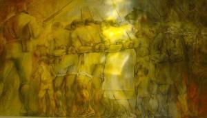 La venta de mayas como esclavos, durante la llamada Guerra de Castas.