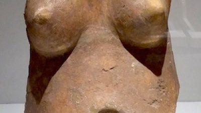 """La mujer sin cabeza de la exposición """"Mayas, el lenguaje de la belleza"""""""