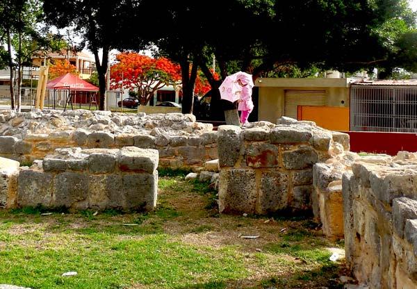 Foto El Chilam Balam / Paredes mayas prehispánicas en El reparto Granjas, Mérida