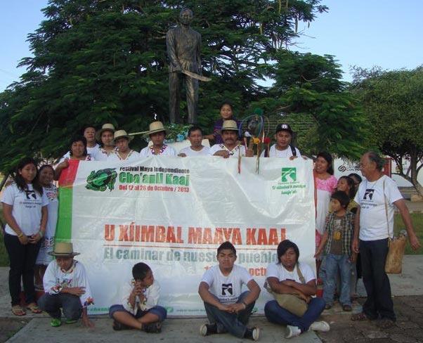 En el homenaje a Jacinto Pat, en Tihosuco