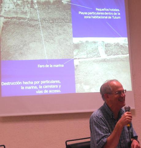 Ernesto Vargas Pacheco hablando de su experiencia en Tulum